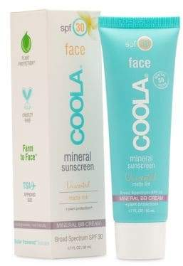 Coola SPF 30 Unscented Matte Tint Face Mineral Sunscreen