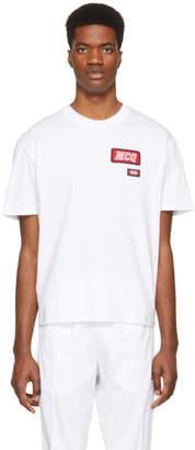 McQ White Varsity Badge T-Shirt