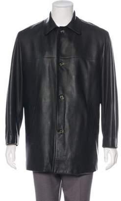 Loro Piana Leather Car Coat Leather Car Coat
