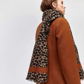 Warehouse Leopard Print Blanket Scarf