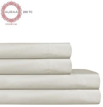 Auraa Essential 200 TC Aaah Cotton 4 Pc Cal King Sheet Set