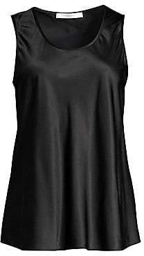 BOSS Women's Inolea Silk Satin Stretch Tank