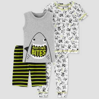 Carter's Just One You made by carter Baby Boys' 4pc Shark Pajama Set - Just One You® made by Gray