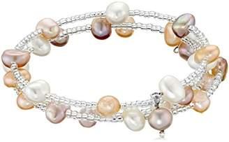 Bella Pearl Multi-Row Triple Bangle Bracelet