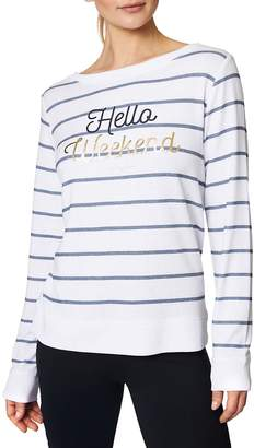 Betsey Johnson Women's Weekend Striped Pullover