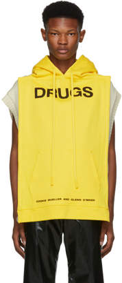Raf Simons Yellow 'Drugs' Panel Hoodie