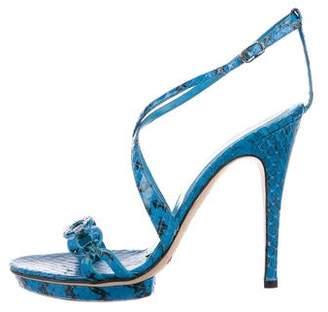 Dolce & Gabbana Python Ankle Strap