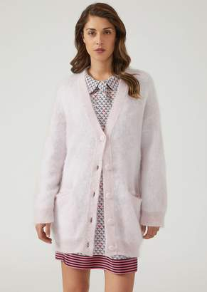 Emporio Armani Mohair Blend Over-Size Cardigan