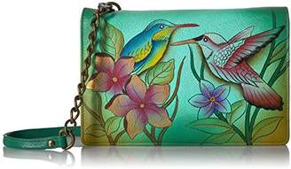 Anuschka Anna By Handpainted Leather Women's Two Fold Wallet On String Wallet