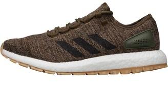 15b3ed8e7ed99 adidas Mens PureBOOST All Terrain Natural Running Shoes Steel Core Black Trace  Olive