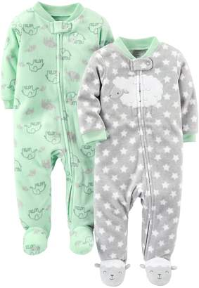 Carter's Simple Joys by Baby Infant 2-Pack Fleece Footed Sleep and Play