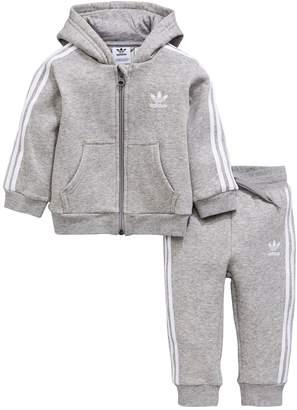 Adidas Grey Ragazzi Tuta Shopstyle Uk