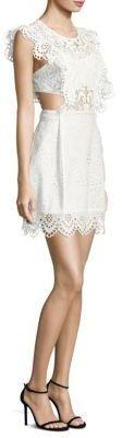 Nightcap Clothing Eyelet Apron Mini Dress $326 thestylecure.com