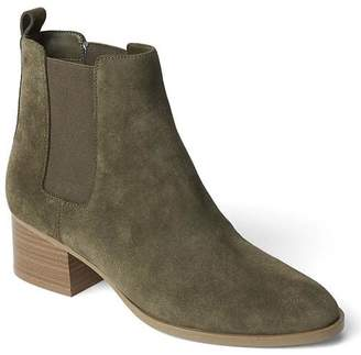 Suede Chelsea boots $98 thestylecure.com
