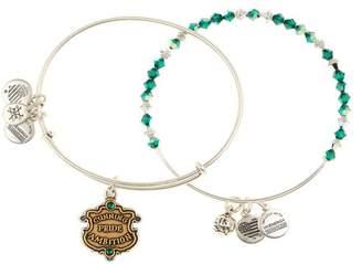 Alex and Ani Harry Potter Slytherin House Crystal Bracelet - Set of 2