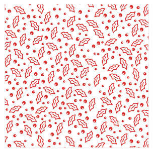 Scattered Holly Self-Launch Wrapping Paper