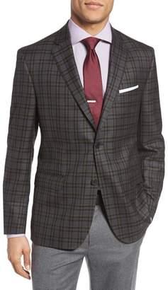 JB Britches Classic Fit Check Wool Sport Coat