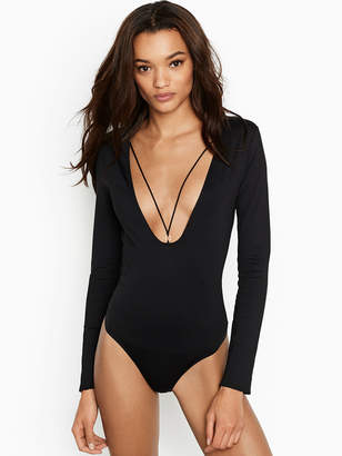 Victoria's Secret Victorias Secret Long Sleeve Plunge Bodysuit