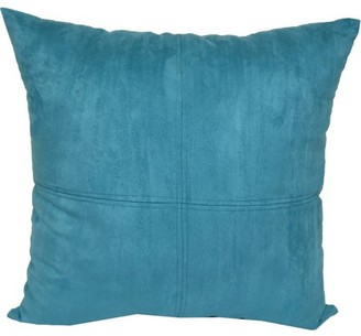 """Mainstays 4-Panel Suede Decorative Throw Pillow, 17"""" x 17"""", Teal"""
