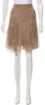 Louis Vuitton Printed Knee-Length Skirt