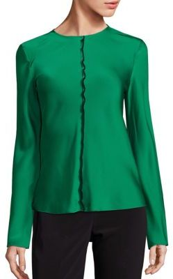 DKNY DKNY Virdian Stretch-Silk Top
