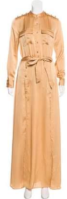 Self-Portrait Militare Crepe Silk Blend Maxi Dress w/ Tags