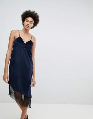 N12h After Hours Lace Trim Slip Dress
