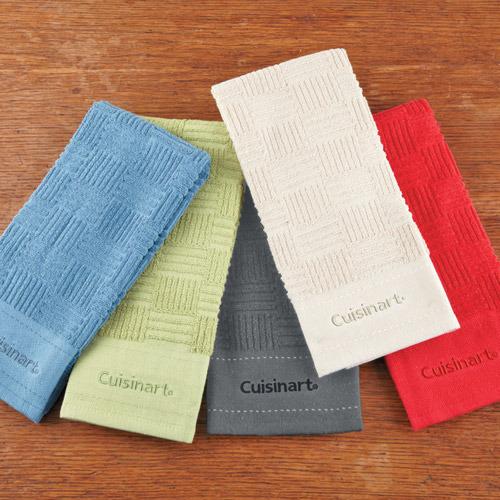 Cuisinart Basket Weave Terry Kitchen Towel Set, 3 piece