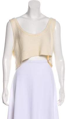 Miu Miu Crop Cashmere Top