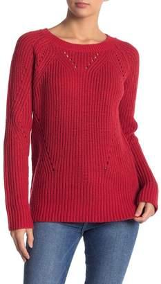 Lucky Brand Crew Neck Pointelle Sweater