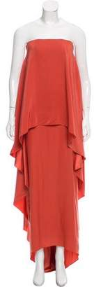 Lanvin Silk Strapless Dress