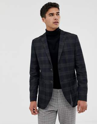 Jack and Jones blazer in slim fit check with patch pocket