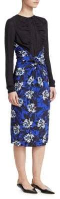 Proenza Schouler Printed Knot Midi Dress