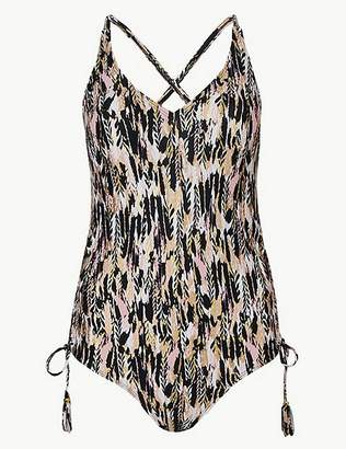 Marks and Spencer Feather Print Plunge Swimsuit