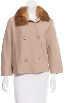 Christian Dior Fox Fur-Trimmed Wool Jacket