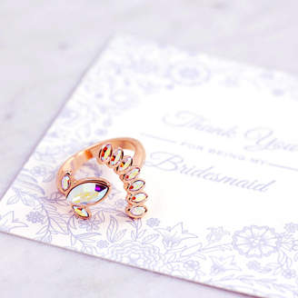 J&S Jewellery Bridesmaid Petal Ring