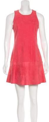 Balenciaga Suede Shift Dress