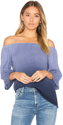 Michael Stars Off Shoulder Top in Blue $148 thestylecure.com