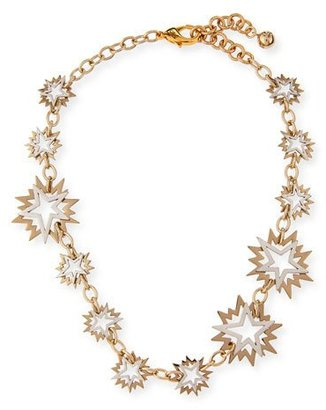 Lulu Frost Cosmic Two-Tone Star Station Necklace $325 thestylecure.com