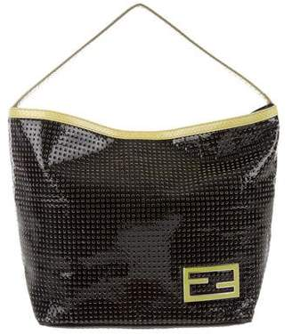Fendi Python-Trimmed Perforated Tote
