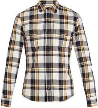 Maison Margiela Spread-collar checked cotton-twill shirt