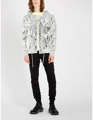 Balmain Mirrored shell hooded jacket