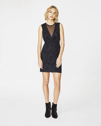 Nicole Miller Embroidered Tulle Dress