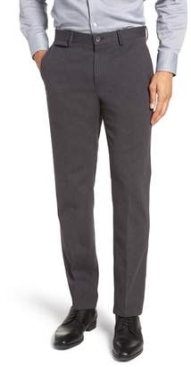 BOSS Batho Flat Front Solid Cotton Trousers