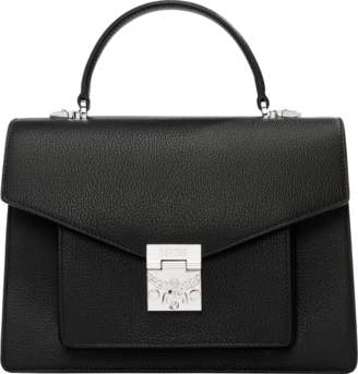 MCM Patricia Pocket Satchel In Grained Leather