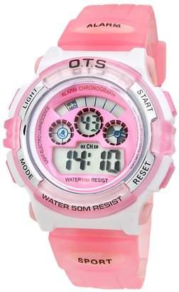 Yavinet Sport Waterproof Digital Girls Watch for Kids Wristwatches