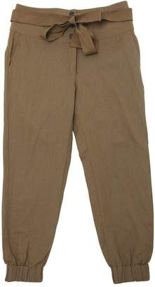 Les Coyotes De Paris High Waist Cotton & Linen Pants