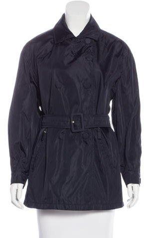 pradaPrada Double-Breasted Trench Coat