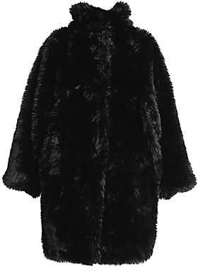 Balenciaga Women's Oversize Faux-Fur Coat