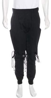 Juun.J Wool Lace-Up Pants